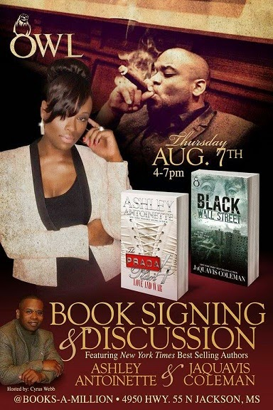 (Thurs. Aug. 7th) Authors Ashley & JaQuavis Return to Mississippi