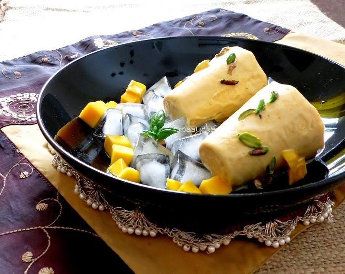 how to make mango kulfi, mango kulfi