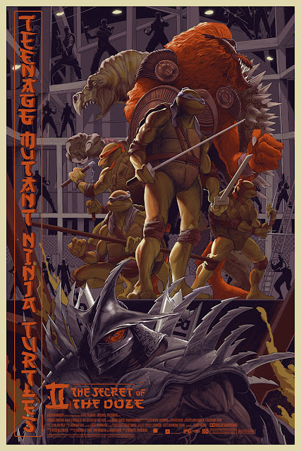 Teenage Mutant Ninja Turtles II: The Secret of the Ooze Screen Print by Rich Kelly