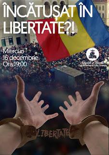 Conferință de tineret - ÎNCĂTUȘAT ÎN LIBERTATE - 16 decembrie 2015