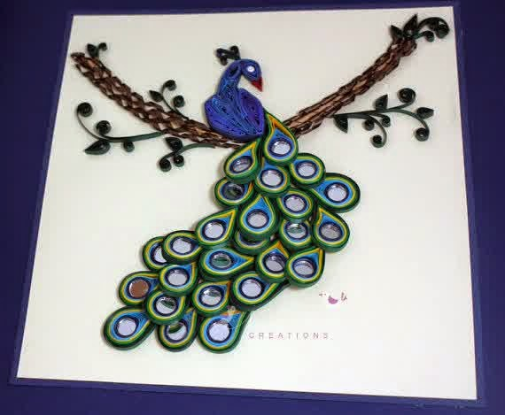 quilling-peacock