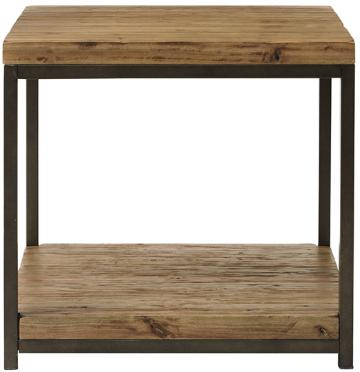tda decorating and design: thrift store metal/wood end table redo