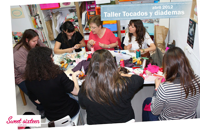 Tocados y diademas Sweet sixteen, craft store. Abril. Madrid
