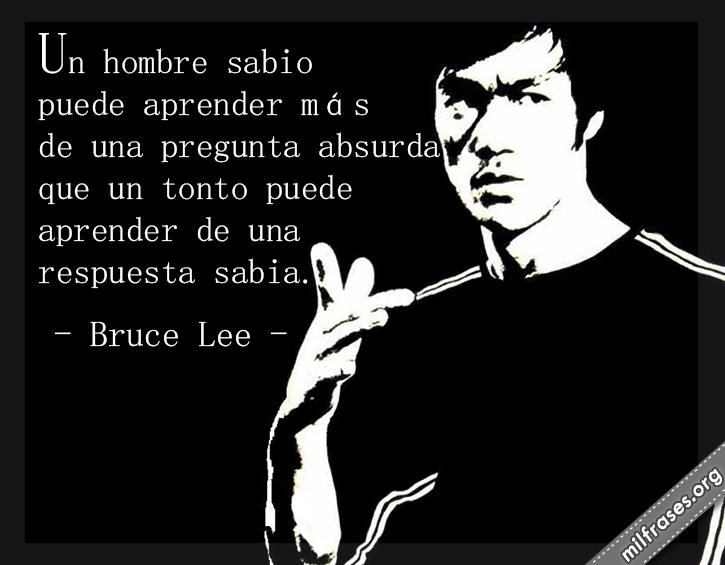 frases de Bruce Lee, artista marcial, actor y filósofo estadounidense de origen chino