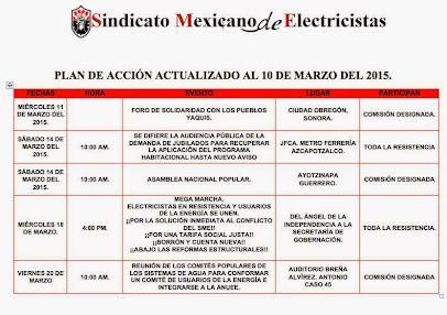 Plan de Acción Actualizado al 10 de Marzo del 2015