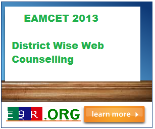 EAMCET 2013 District Wise Web Counselling