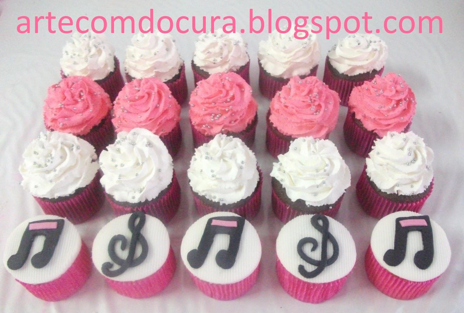 Cupcakes Notas Musicais