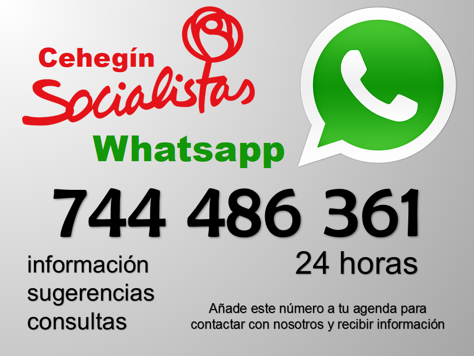 Whatsapp PSOE Cehegín