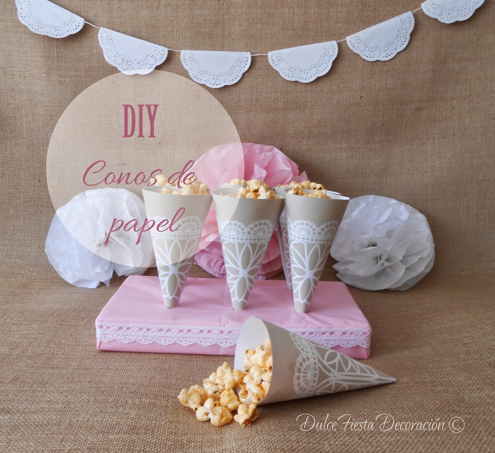 Dise o y decoraci n personalizada para eventos diy conos - Decorar con papel ...