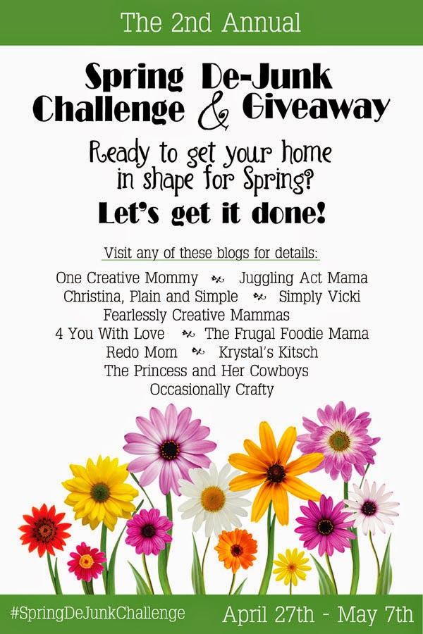 Join us in the Spring De-Junk Challenge & get entered to win a $210 Amazon gift card!