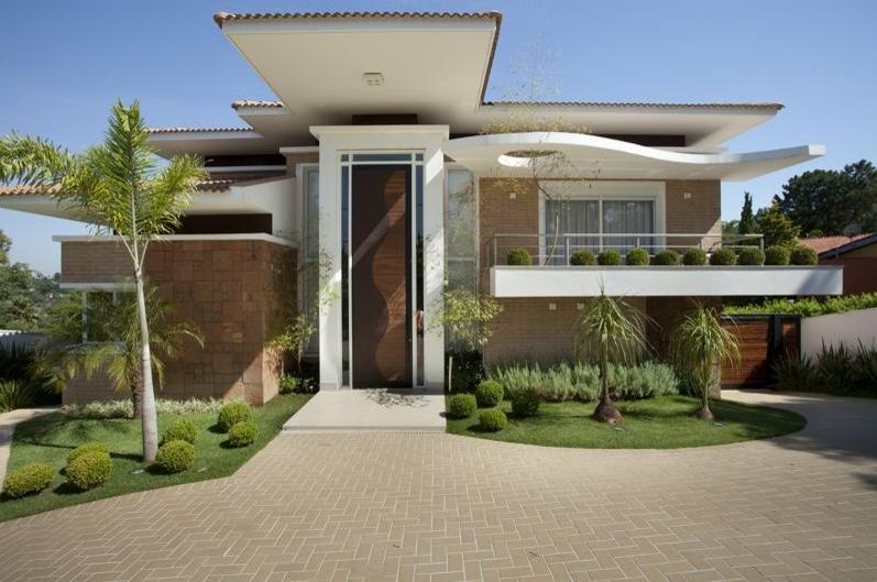 15 fachadas de casas com portas de entrada pain is altas - Entradas casas modernas ...