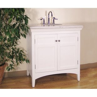Simple 30-Inch Single Sink Bathroom Vanity