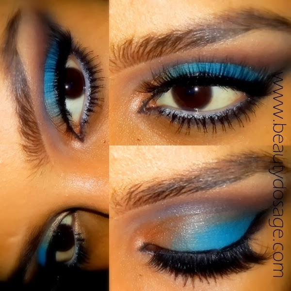 Dark New Years Eve Makeup Blue And Gold Eye Makeup Make Up For