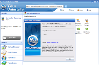 Screenshot Your Uninstaller! 7.5.2013.2 Pro