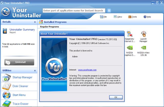 Your Uninstaller! Pro 7.5.2013.2 Full Dan Serial Number