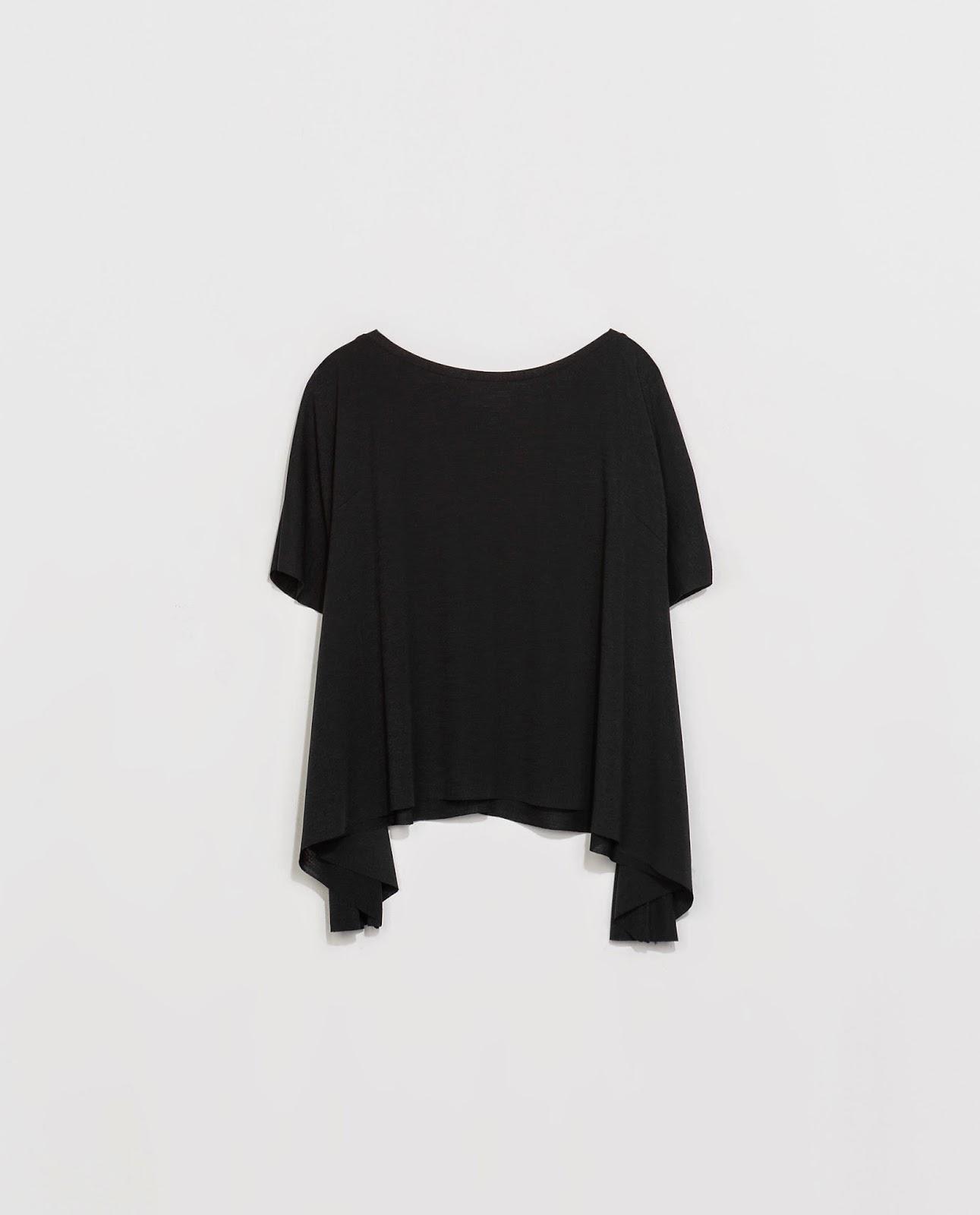 Camiseta corte japones de Zara, black, street style, t-shirt