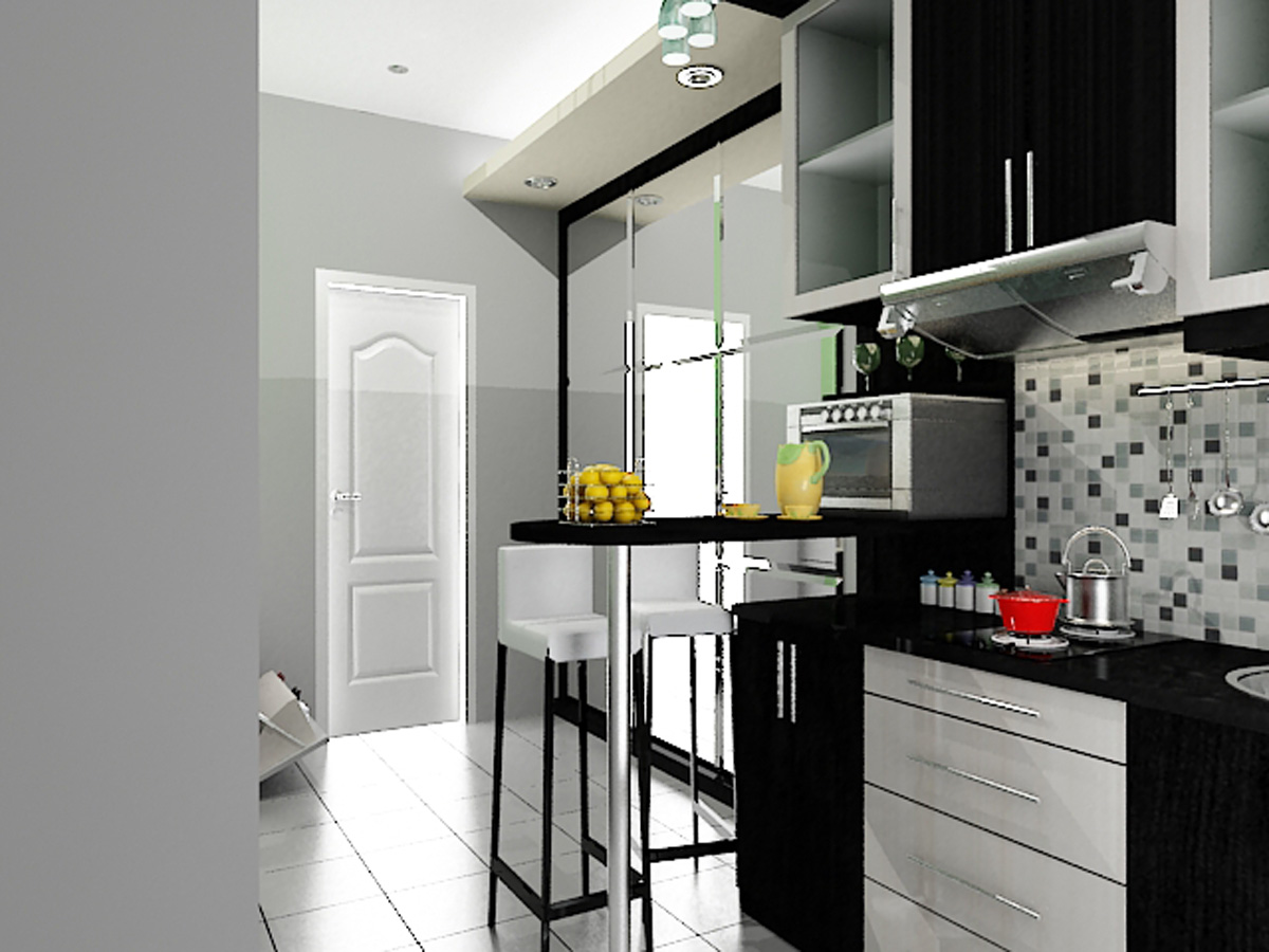 Kitchen set apartemen dian interior design for Pemasangan kitchen set