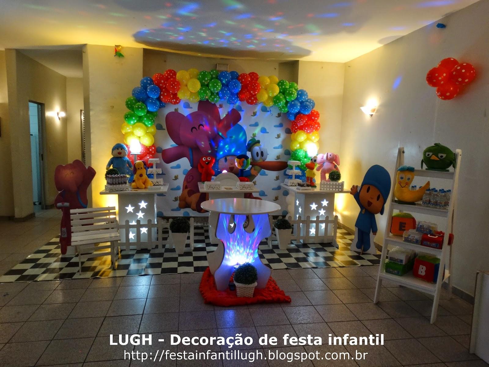 tema Pocoyo, decoração provençal para festa infantil de aniversário