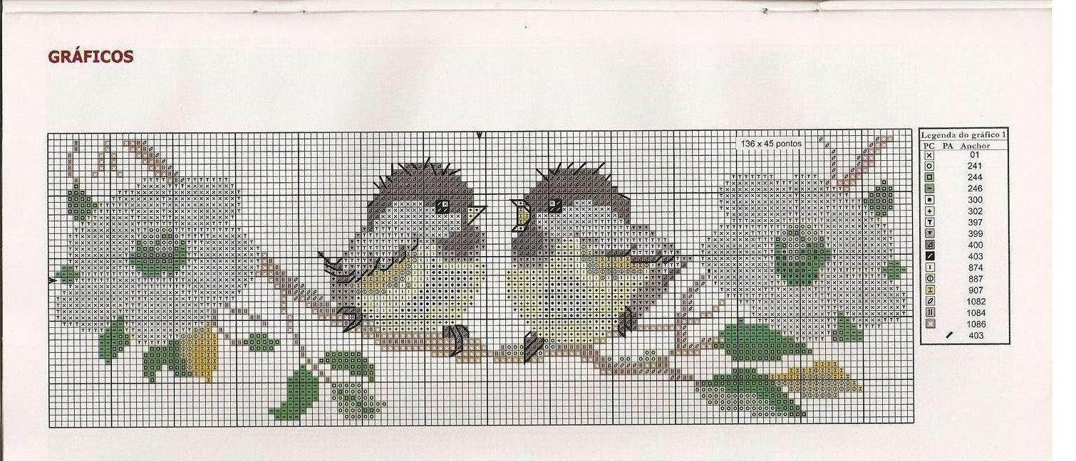 Схемы вышивки крестом воробьи