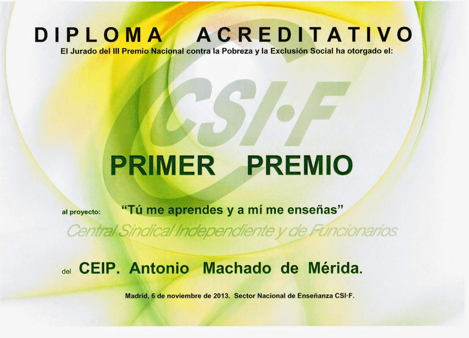 Premio del Sindicato CSI-F