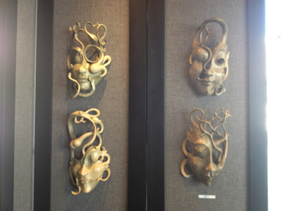 bali masks, the afternoon, hand carved, art, omaha, dream mask, wall decor