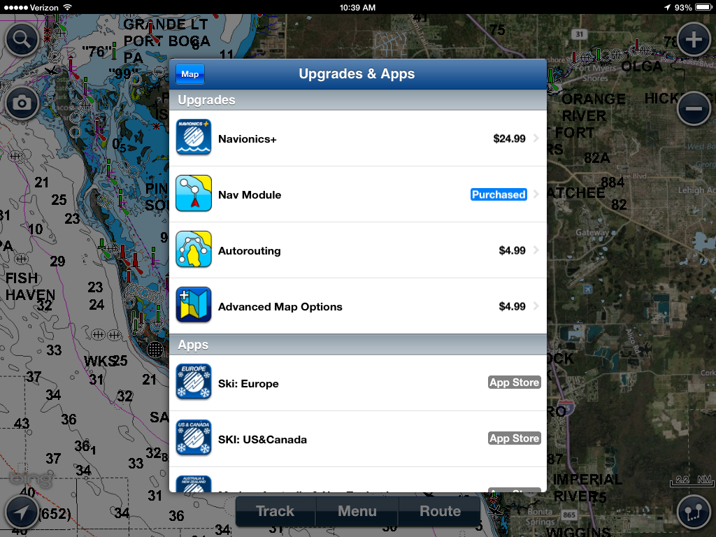 I marine apps navionics in app purchases welcome or nuisance i bought the navionics usa hd app for my ipad a few years ago and have used it extensively i paid a premium of 4999 for the app gumiabroncs Image collections