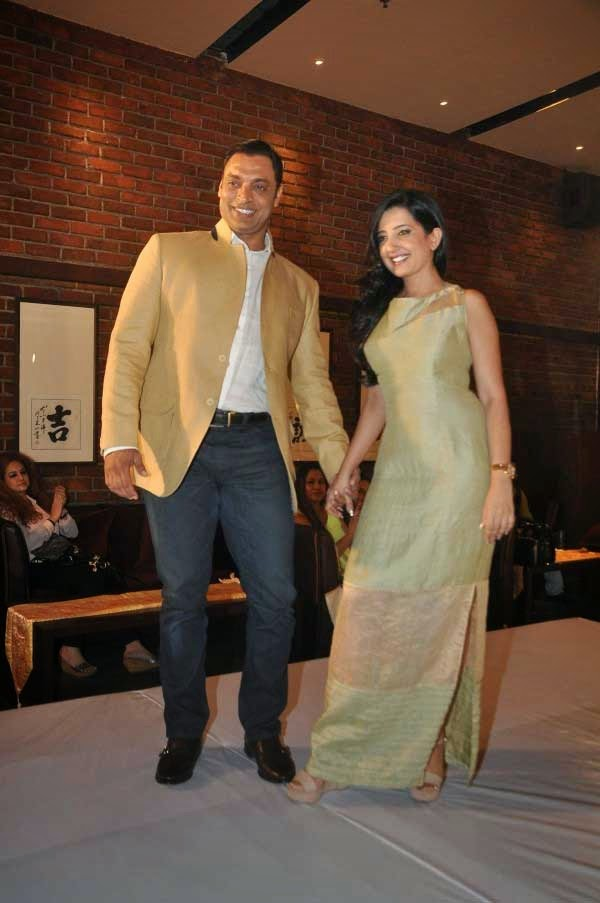 cricketer Shoaib Akhtar and Amy Billimoria