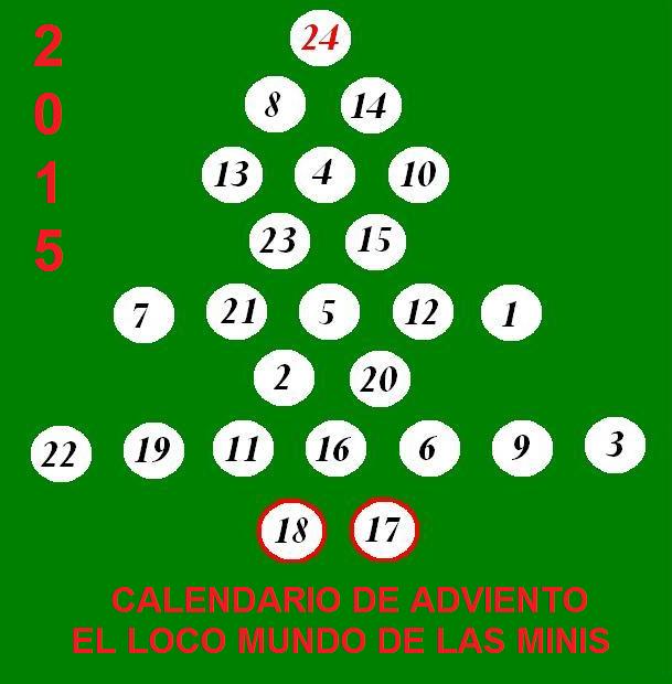 he participado en el CALENDARIO DE ADVIENTO DEL LOCO MUNDO DE LAS MINIS, 2015