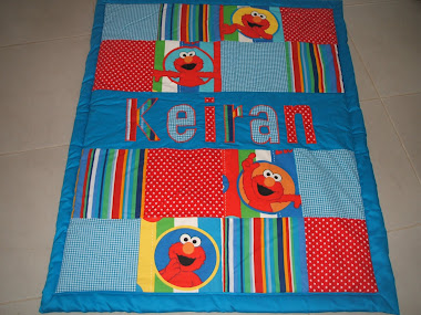 Elmo with blue background