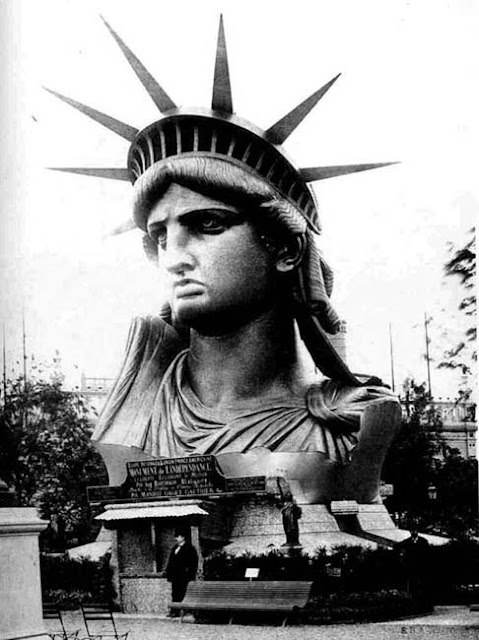 The Statue of Liberty in Paris 1886 before being gifted to the US - The Decorated House July 2015