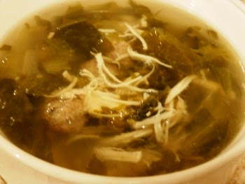 A nice bowl of hot wedding soup