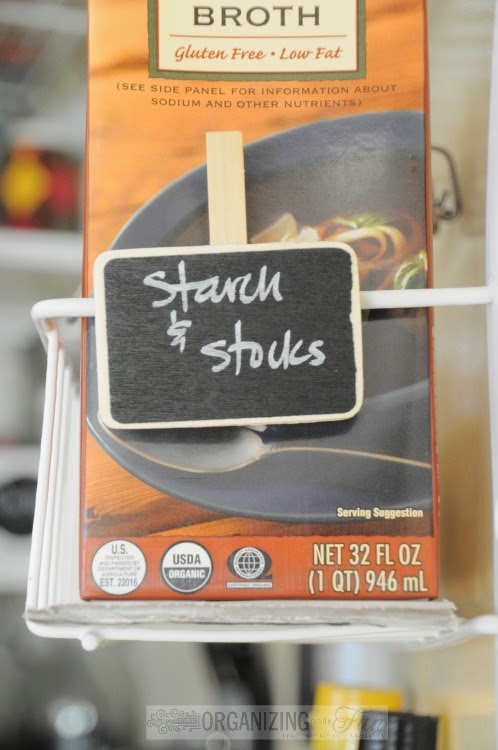 11 Ways to Organize with Clothespins - Chalkboard Label Clothespins :: OrganizingMadeFun.com