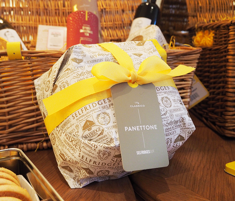 Selfridges Christmas hamper panettone