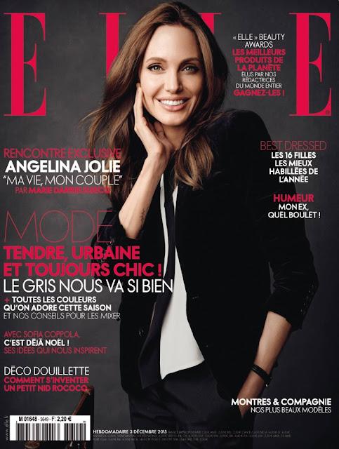 Actress, @ Angelina Jolie - Elle France, December 2015