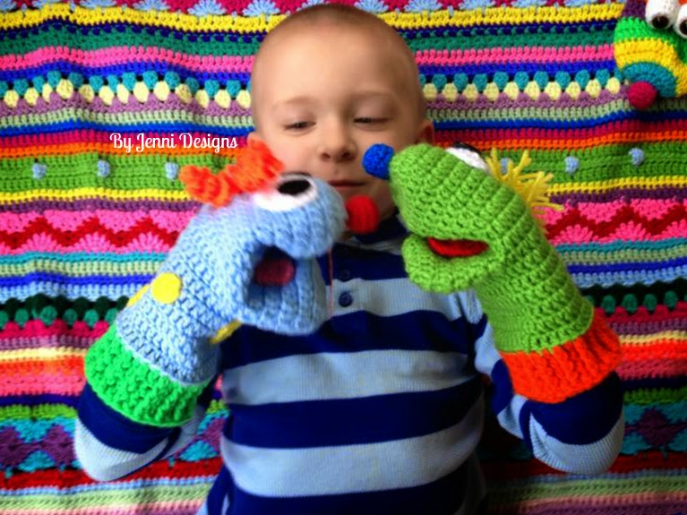 By Jenni Designs Free Crochet Pattern Little Cs Silly Hand Puppets