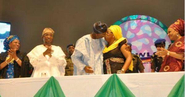 Old School Naija PDA - Fashola Kisses Wife