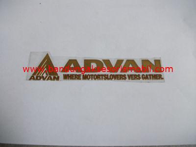 Emblem Alumunium Besar Gold Advan