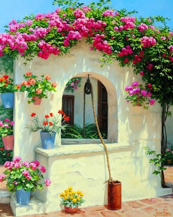 Cuadros pinturas oleos pinturas de ventanas con flores for Comprar cuadros bonitos