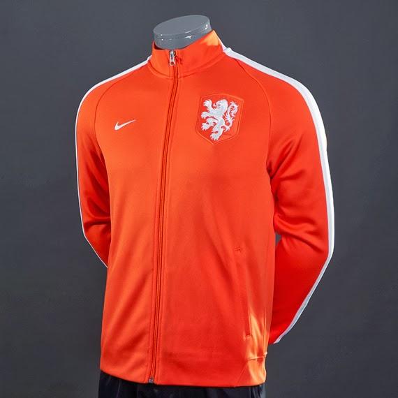 Jaket Bola Belanda Home Piala Dunia 2014