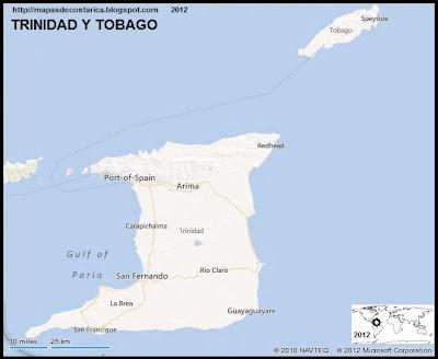 TRINIDAD Y TOBAGO, Mapa de TRINIDAD Y TOBAGO, BING