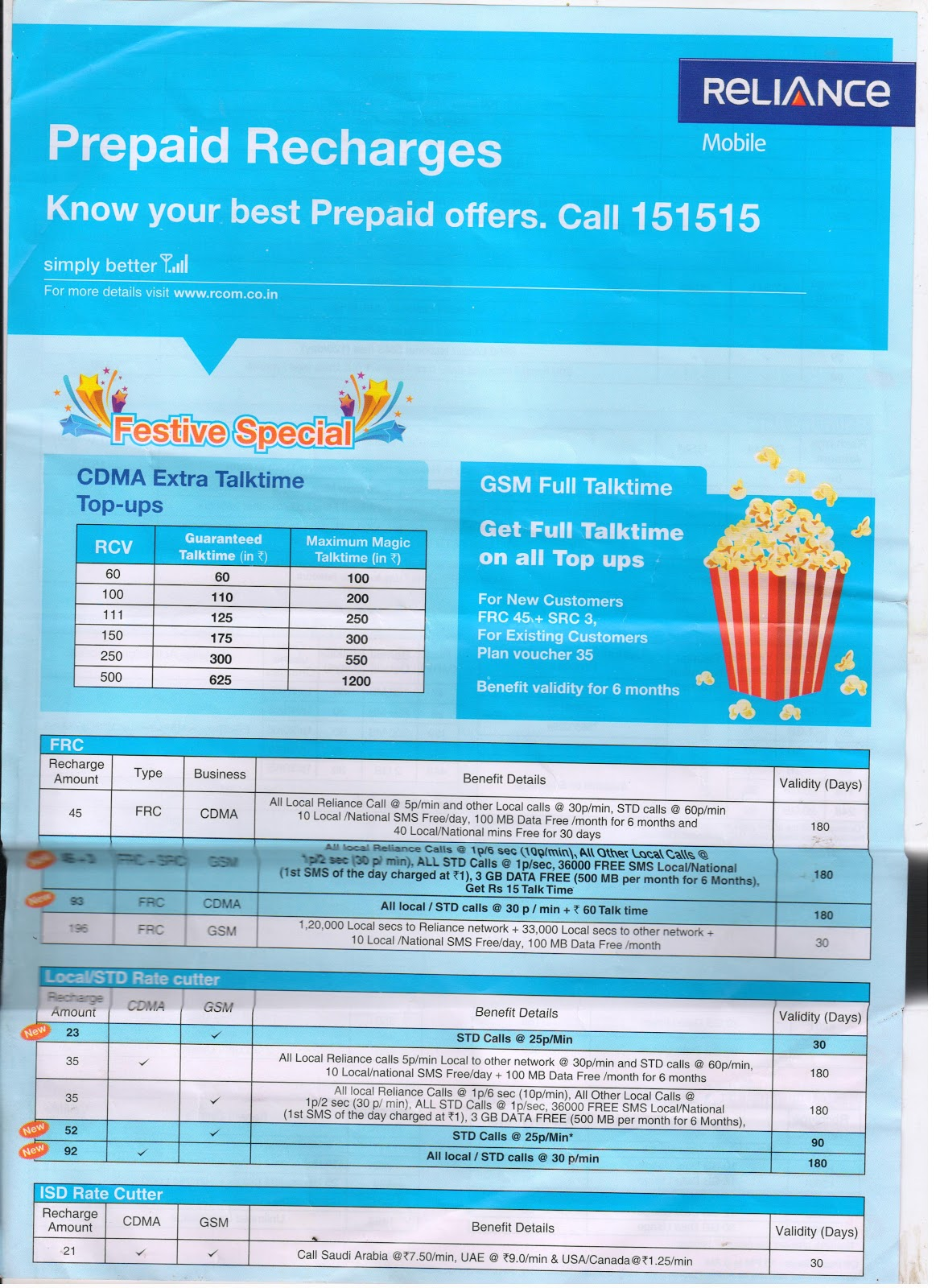 Free recharge coupons for reliance gsm