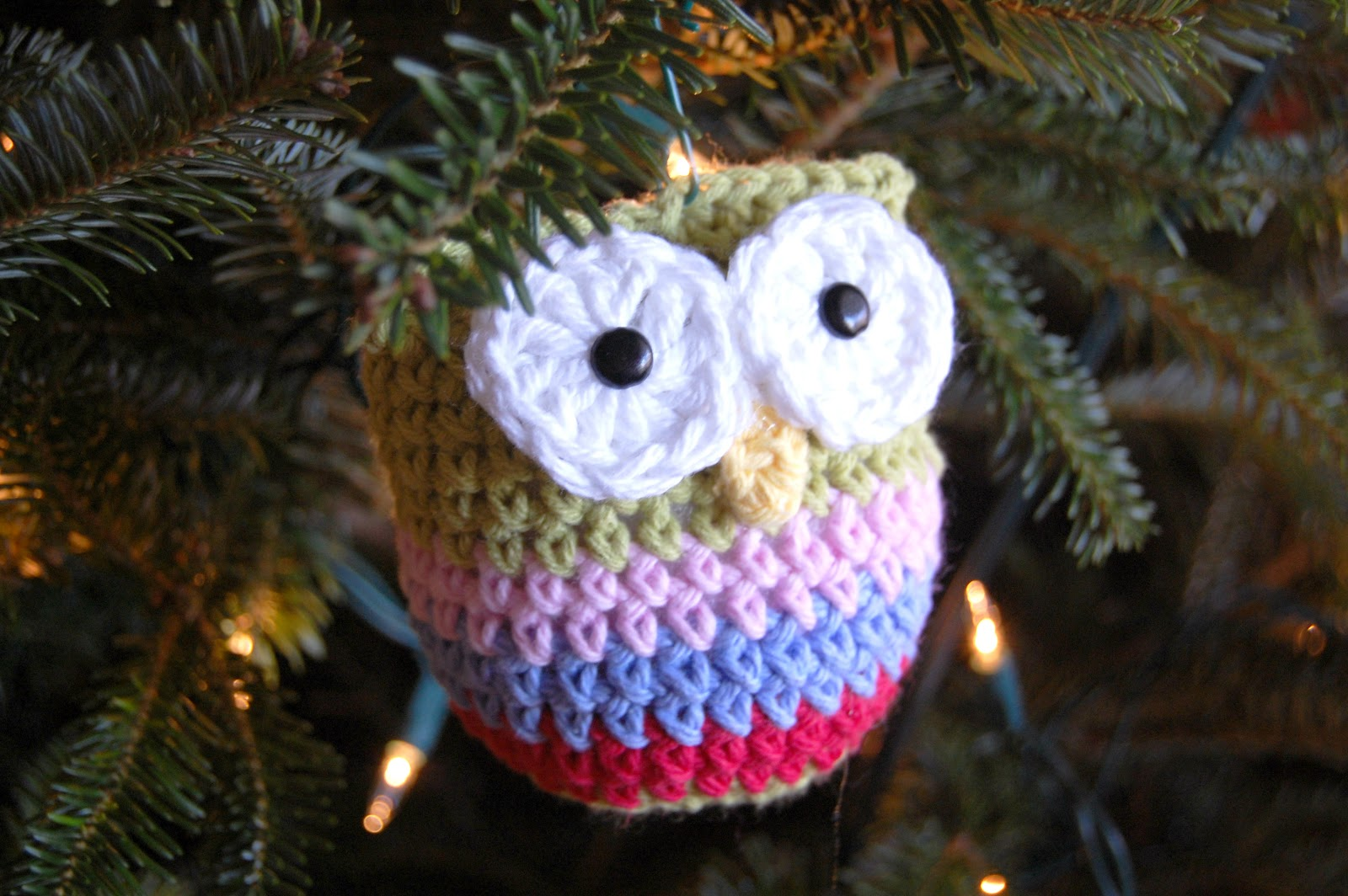 hopscotch lane crochet owl ornament pattern. Black Bedroom Furniture Sets. Home Design Ideas