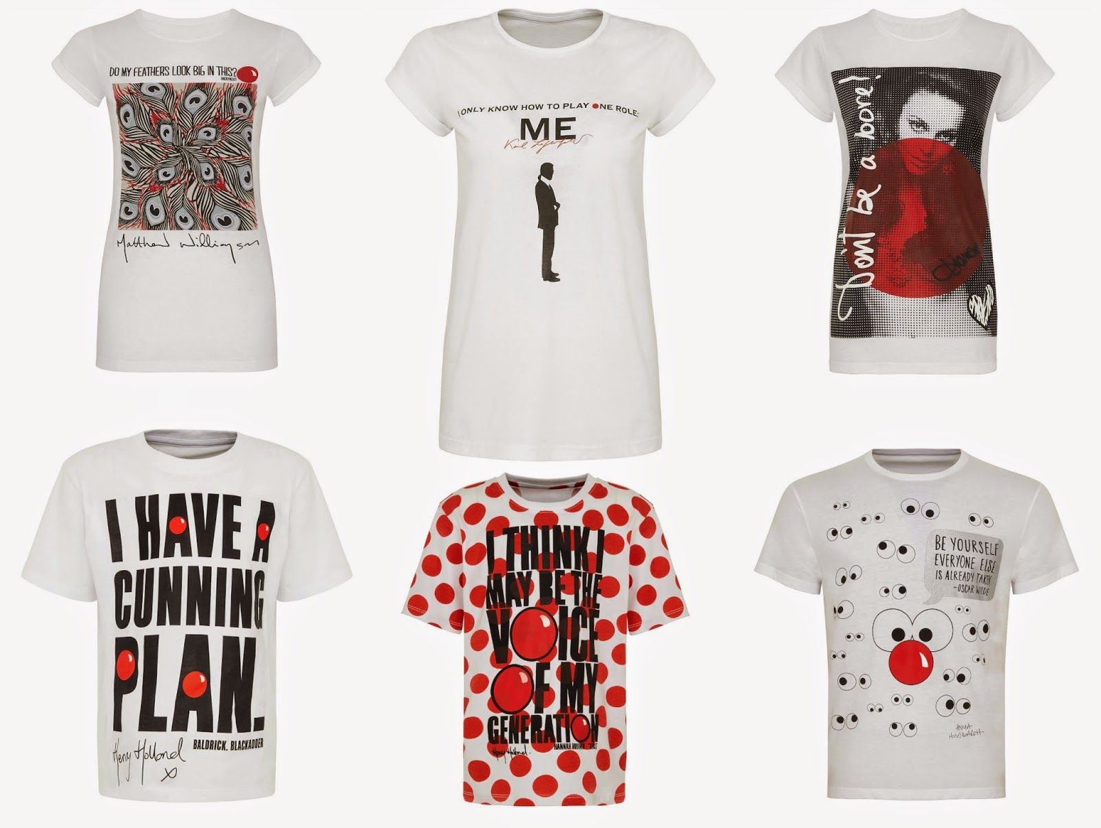 mamasVIB | V. I. BUYS: TK Maxx put the 'fashion' into Red Nose Day to support Comic Relief! | comic relief | red nose day | red nose | kate moss | Lily Allen | tkmaxx | designer tees | charity tees | diane von furstenburg | matthew williamson | henry holland | karl lagerfeild | anya hind march | charity | red nose t-shirts | red nose apron | tk maxx | comic relief merchandise | rimmel | red lipstick | donations | fridy the 13th | designer t-shirt for charity | fundraising | donations | charity | TKMaxx t-shirts | red nose | mamasVIb