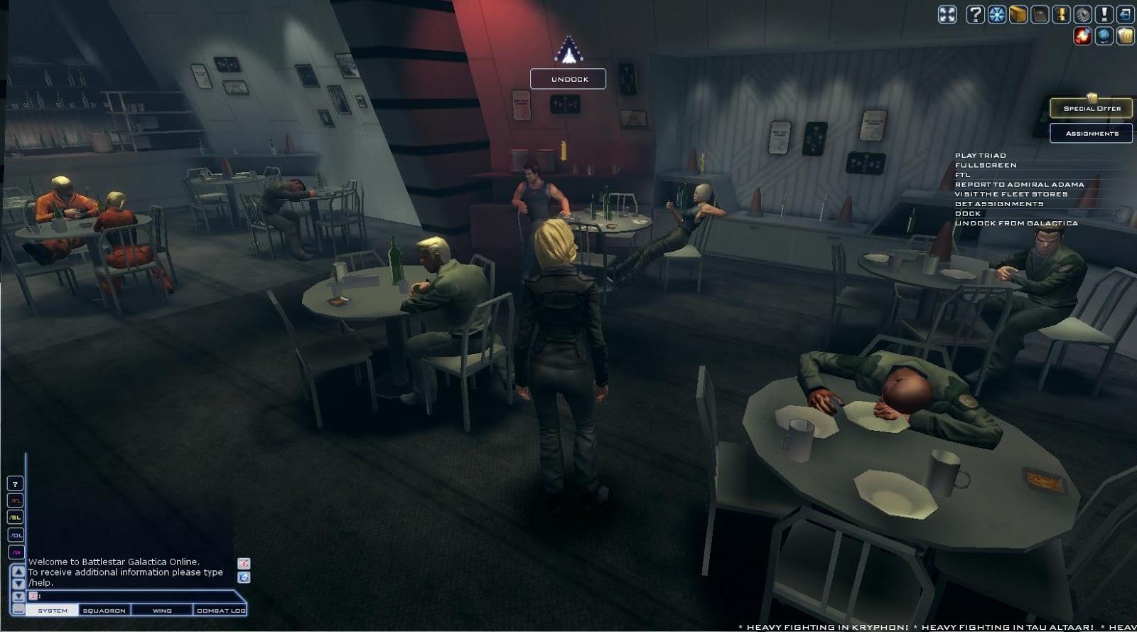 Battlestar Galactica Online - REC room