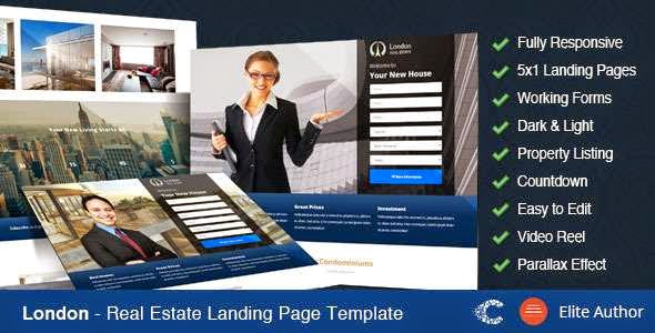 London - Real Estate Landing Page Template