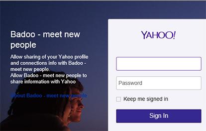 Badoo sign in with yahoo