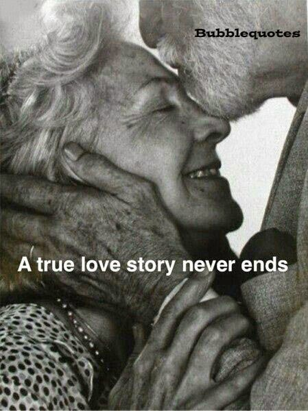 A true love story never ends Image Quote