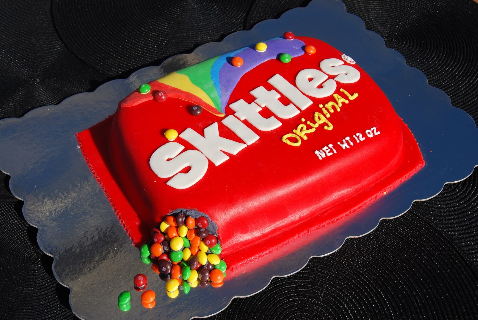Gamma Susies This N That Skittles Cake