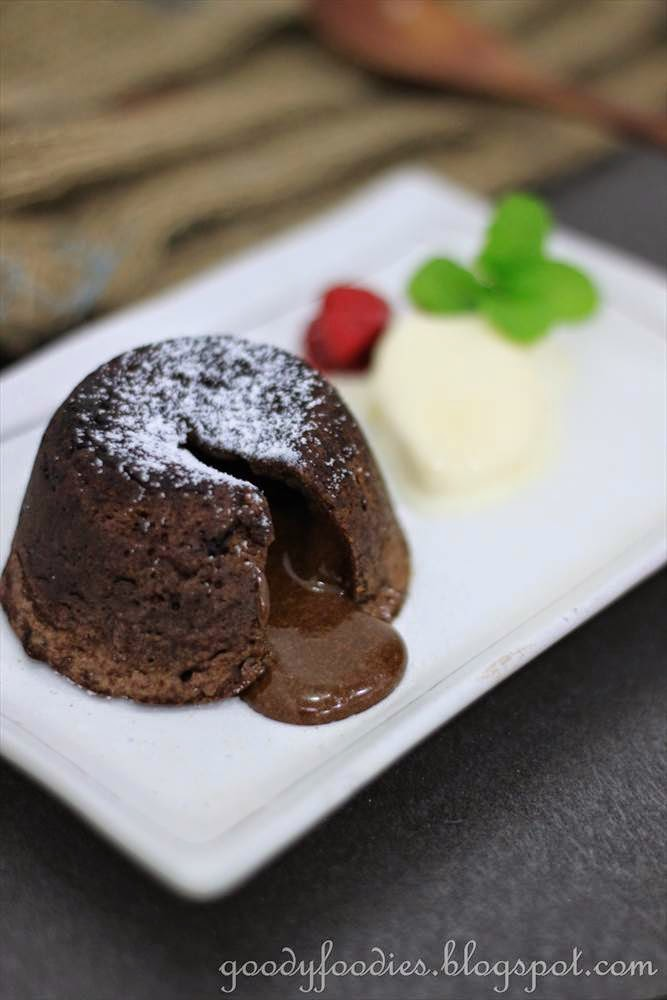 Recipe Chocolate Lava Cake For One
