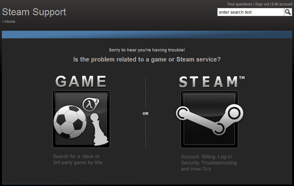 how to make a steam support account